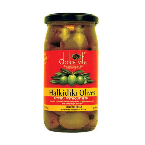 Imported Halkidiki Pitted Green Olives from Italy in India
