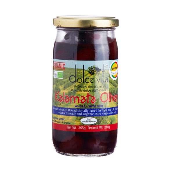 Imported Organic Whole Kalamata Olives from Italy in India