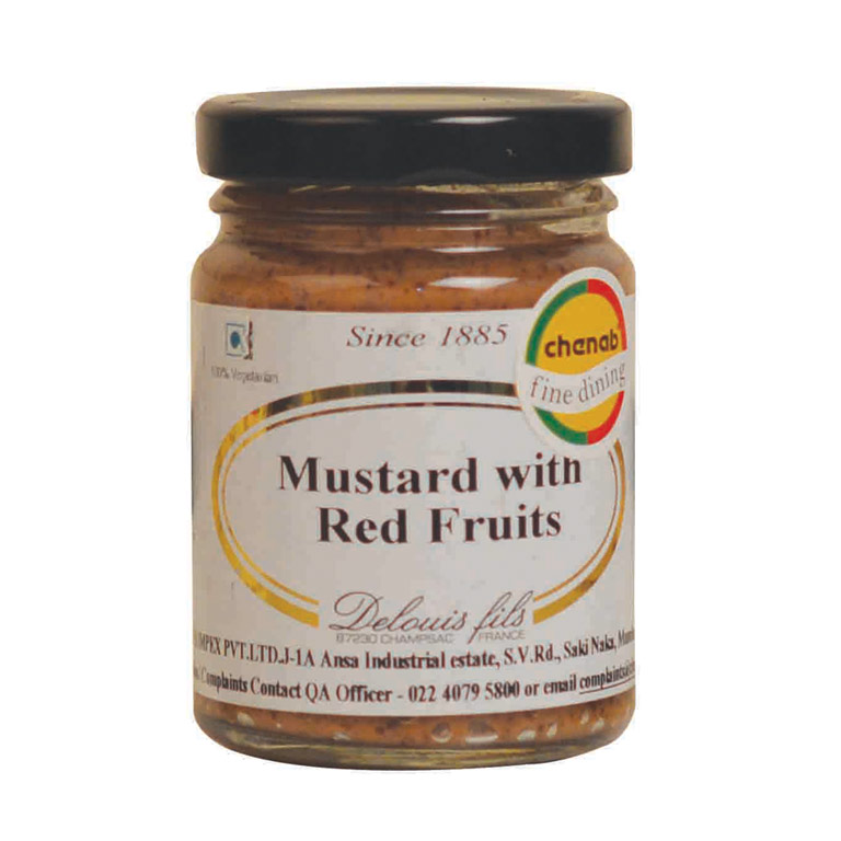 Delouis French Red Fruit Mustard 100gm from France in India