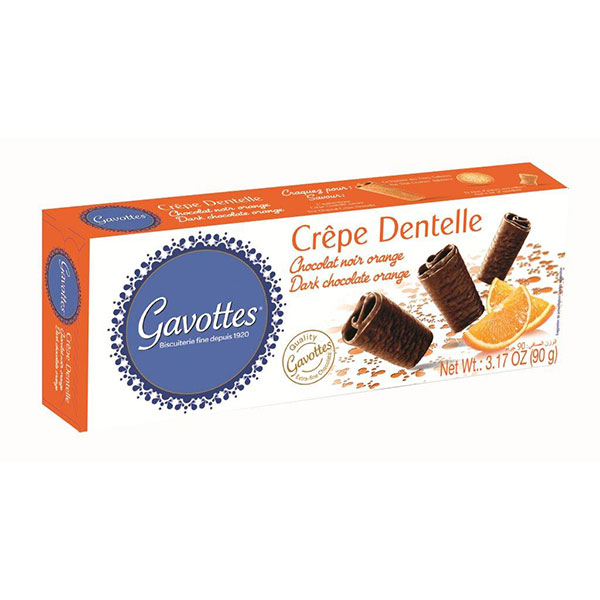 4. 18 Crispy '' Brittany Crepes'' Flavoured with Orange & Covered with Dark Chocolate