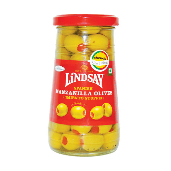 Imported Spanish Manzanila Stuffed Olives with Pimiento from Spain in India