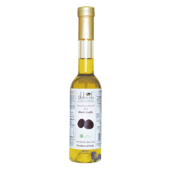 Flavored extra virgin olive oil with Black Truffle 250ml – Dolce Vita