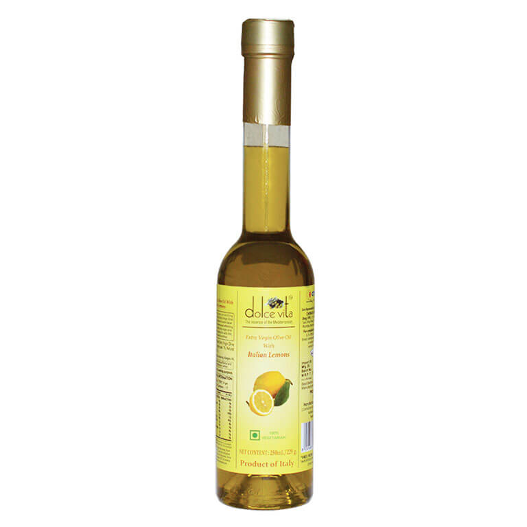 Flavored extra virgin olive oil with Lemon 250ml – Dolce Vita