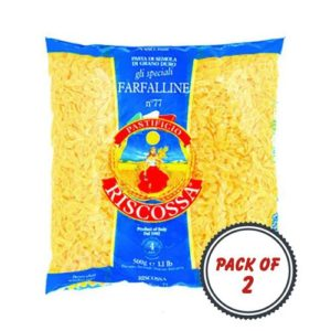 Pastificio Riscossa Farfalline Pasta, 500 Gms (Pack of 2)