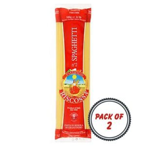 Pastificio Riscossa Spaghetti Pasta, 500 Gms (Pack of 2)